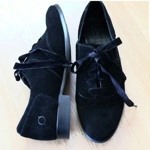 Born Black Suede Lace Up Oxford 7